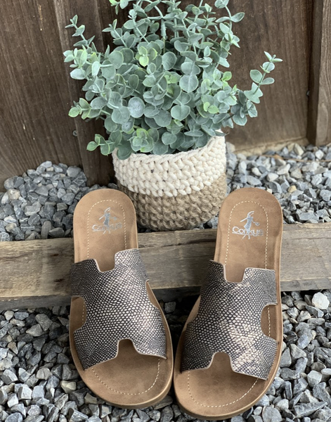 """Corkys """"Bogalusa"""" Designer Inspired Sandals"""
