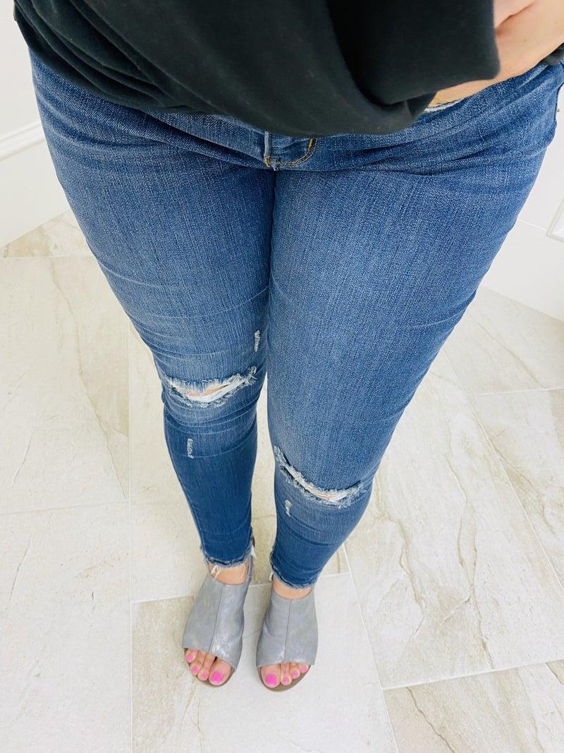 "Judy Blue 27"" Midrise Cropped Skinny Jean"