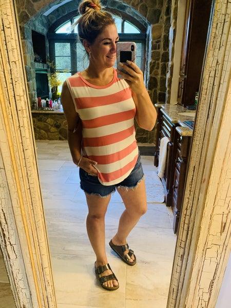 Basic Bold Stripe Sleeveless Top