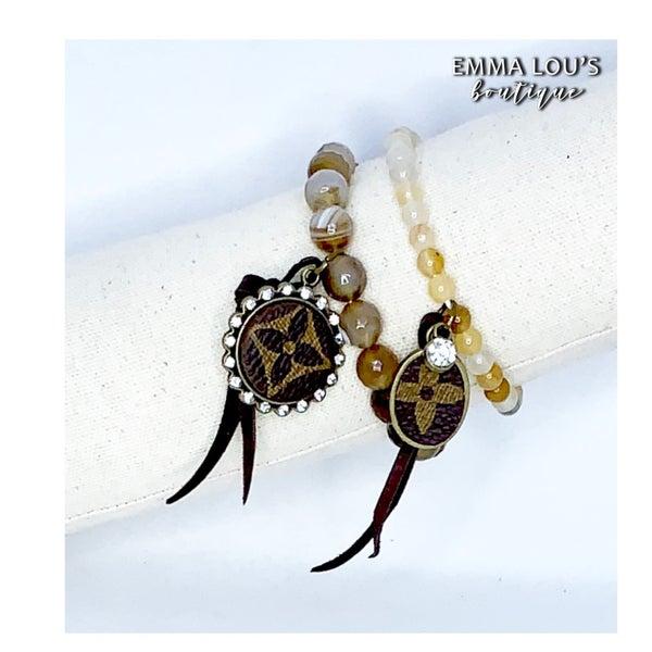 LV Mocha Beaded Bracelet