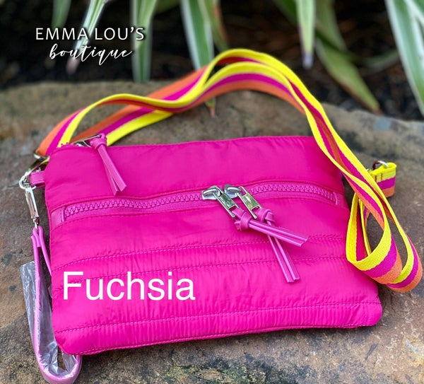Nylon Cross Body with strap and wristlet