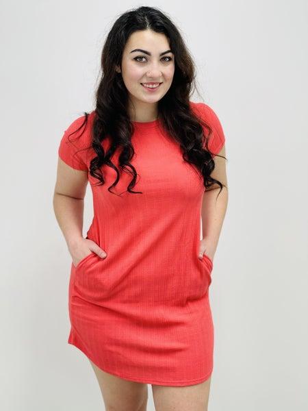 Dolman Sleeve Striped Tunic Dress
