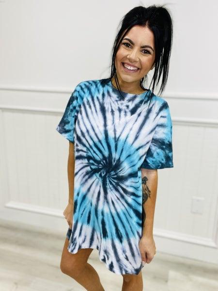 Short Sleeve Upcycle Tie Dye Dress