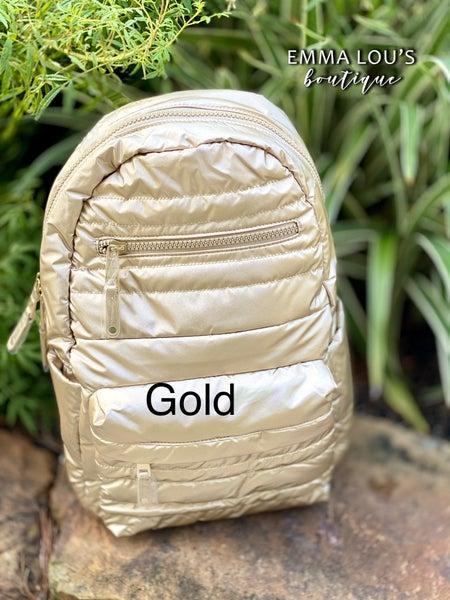 Large Puffer Nylon Backpack Full Size