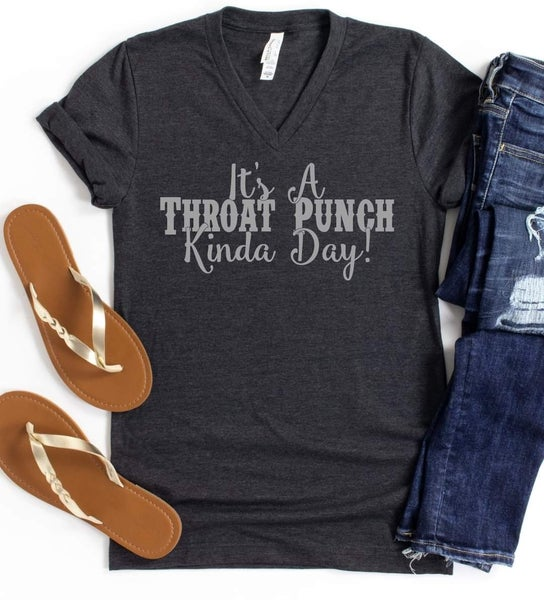 Throat Punch PREORDER V-neck Graphic Tee