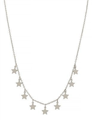 """Silver Star 16"""" - 18"""" Necklace"""
