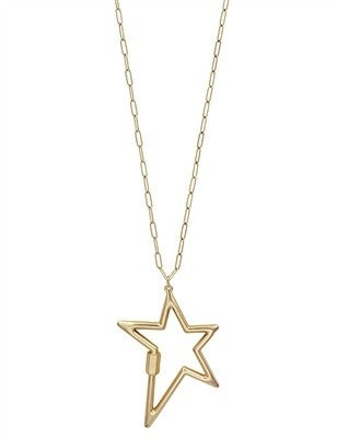 """Two Layered with 12"""" Star Charm 34"""" Necklace"""