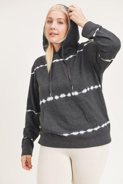 Shockwave Lines Tie-Dye Hoodie Pullover