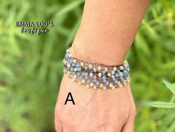 Melania Clara Multi Strand Beaded Bracelet