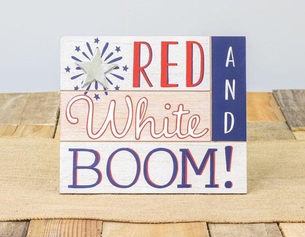Red White & Boom! Hanger/Easel