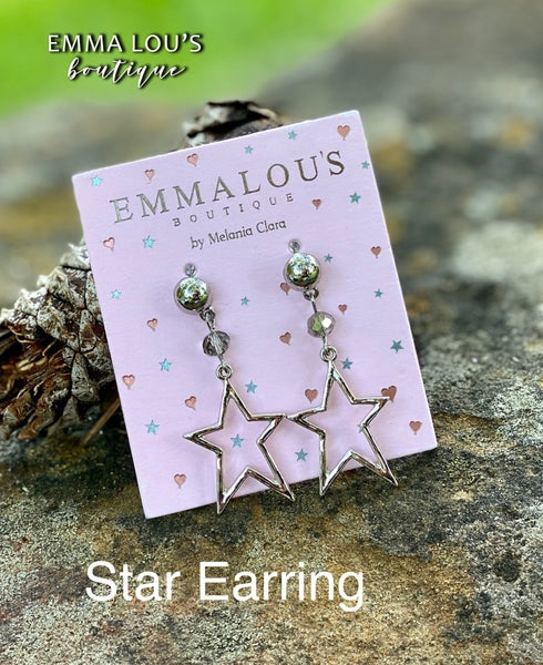 Sterling Silver Star Earrings with Post