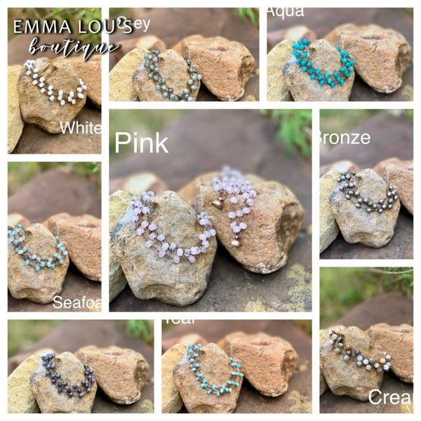 "Melania Clara ""Maria"" Multi Strand Beaded Bracelet"