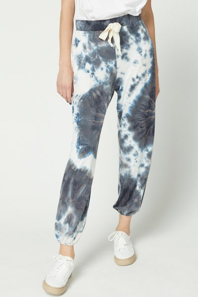 Tie Dye Print Joggers with Drawstring Waistband