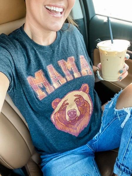 Mama Bear Plaid Graphic Tee