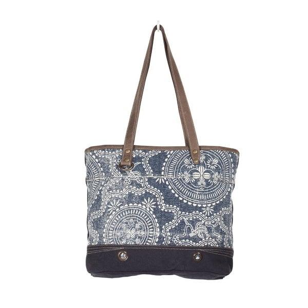 Myra Denim Blue Tote Bag
