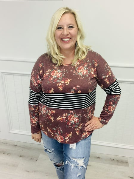 Sew in Love Long Sleeve Striped Top!