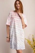 Easel Get Obsessed Tie Dye Dress