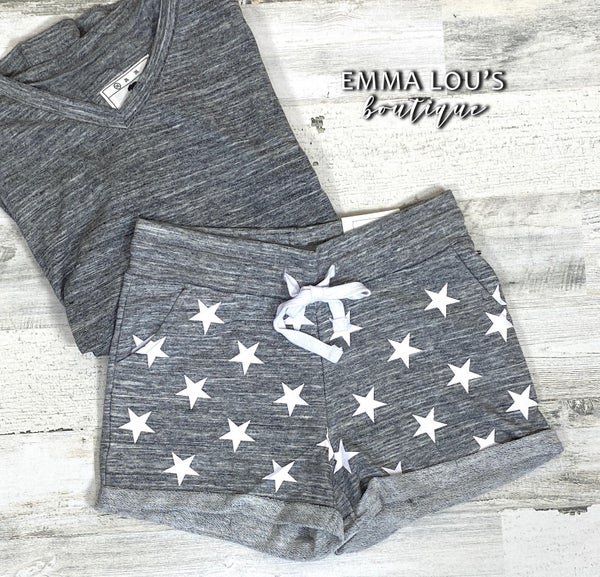 TERRY SHORTS WITH STAR PRINT