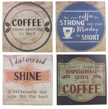 Wood Boxed Coffee Wall Sign - ATL