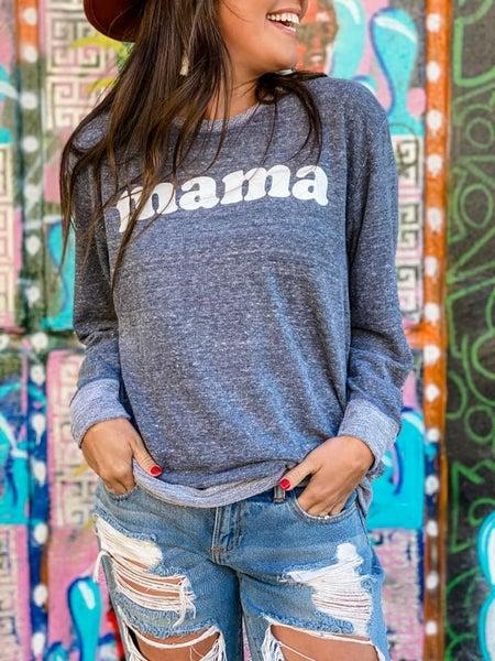Boutique Elbow Patch Mama Sweatshirt Pre-Order