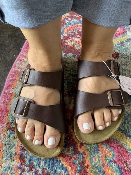 Designer Inspired Leather Sandals