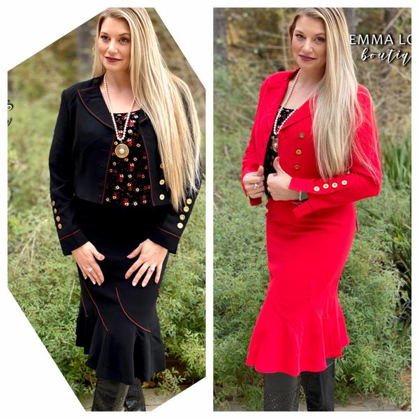 2-Piece Skirt & Jacket Set