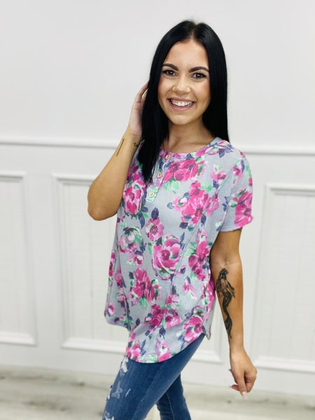 Sew In Love Short Sleeve Floral Top