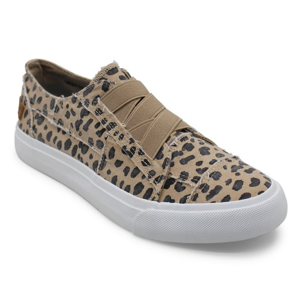 Blowfish Marley Latte Spots Print Canvas Tennis Shoes