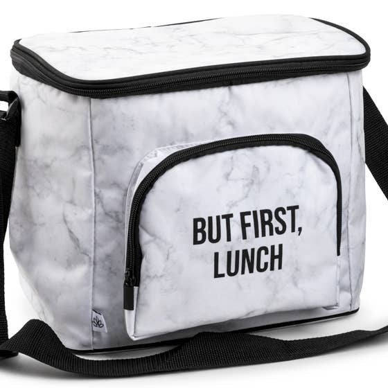 """""""But First, Lunch"""" Cooler Bag"""