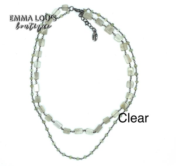 "Melania Clara Short ""Amour"" Necklace"