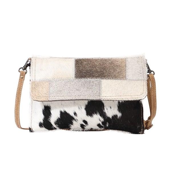 Myra Brick and Stitch Crossbody Bag