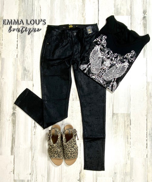 L&B Basic Shiny Skinny Jean