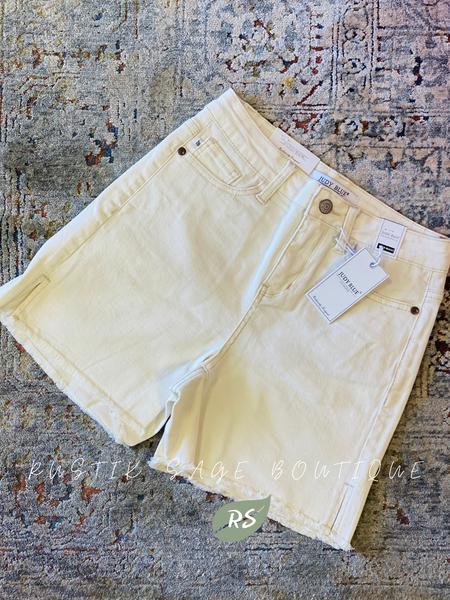 J29 Judy Blue Cream Non Distressed Shorts