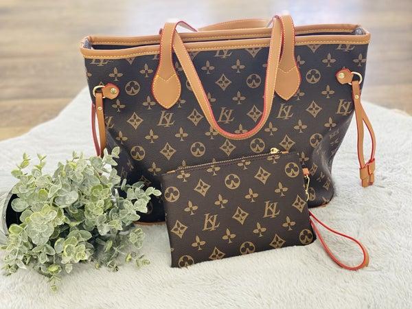 F50 Keep It Gypsy LV Inspired Handbag Purse (2 piece)
