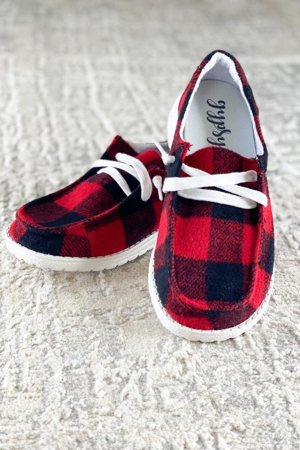 AP4 Very G Heather Sneaker in Red Plaid