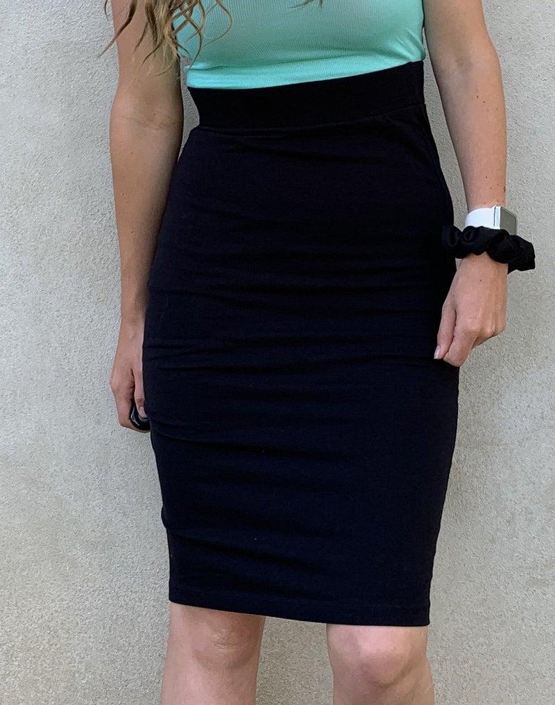 701 Black Pencil Skirt