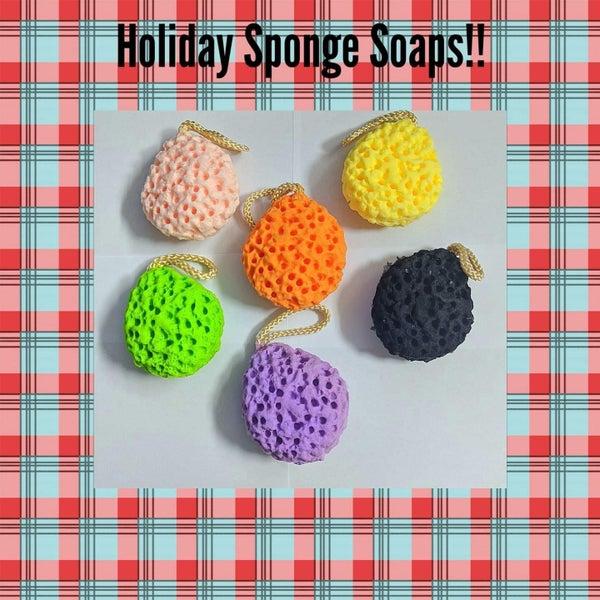 1195 Country Bathhouse Holiday Sponge Soaps