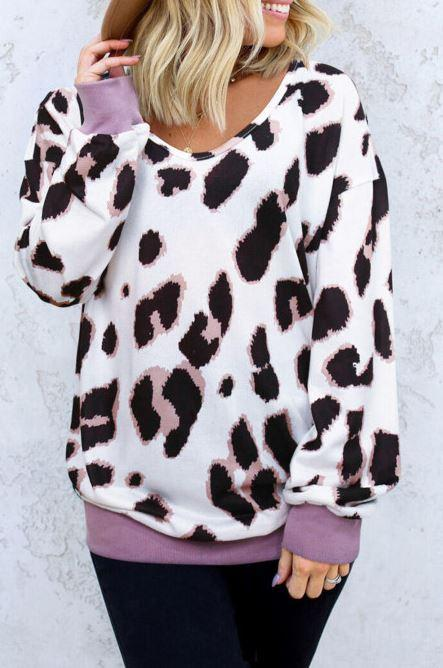 F22 15 Stitches Love Me Leopard Sweatshirt