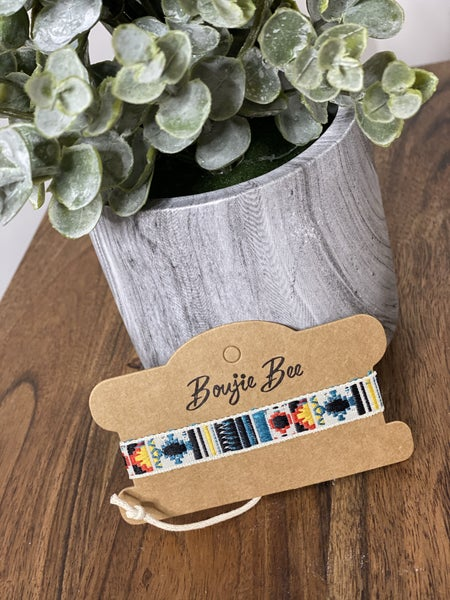 11064 Boujie Bee Embroidered Bracelets