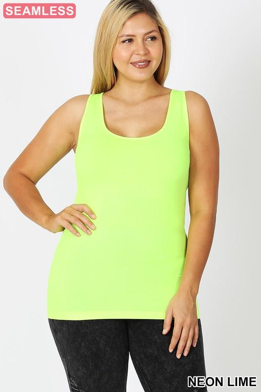 JA040 Seamless Neon Thick Strap Tank Top (3 colors)