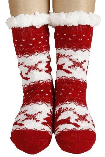 1158 Miss Sparkling Red Christmas Socks