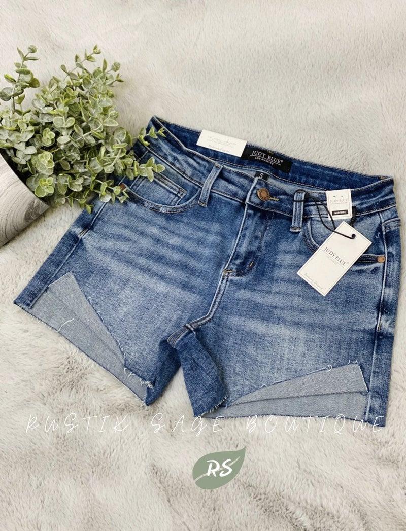 M46 Judy Blue Retro Cuffed Shorts