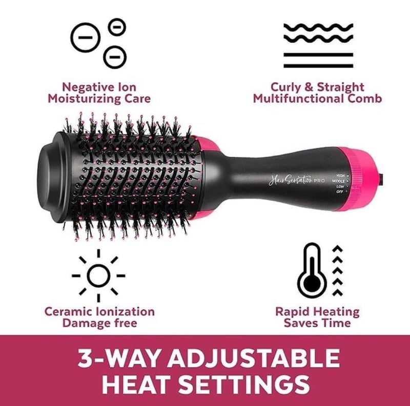 F49 Heart&Home 3 in 1 Hot Air Dryer Brush