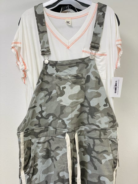 J74 Sew In Love with Camo Overalls