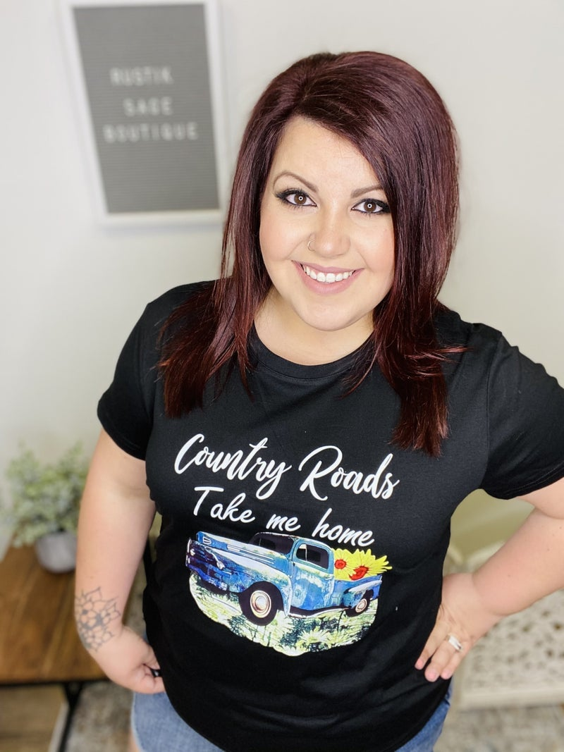 M56 Country Roads Graphic Top