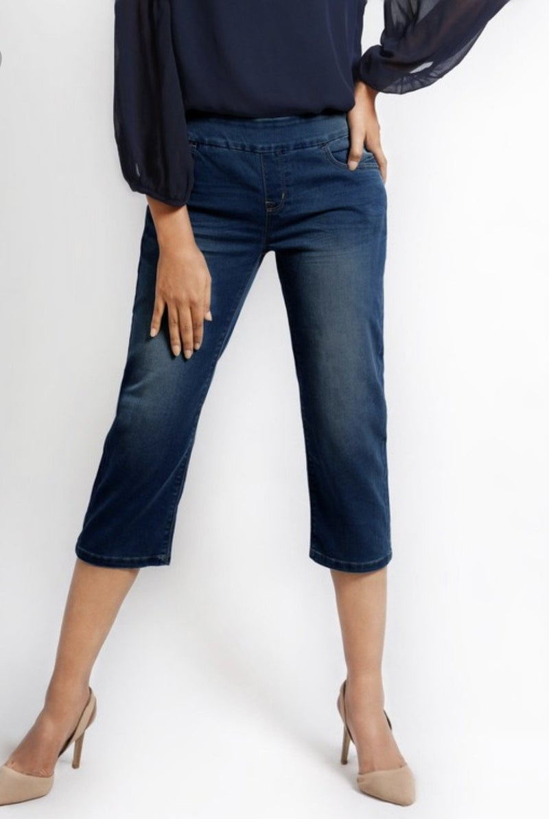 Pull On Capri Denim Jeans *Final Sale*