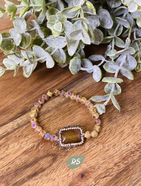 M91 Mocha Stone Beauty Bracelet