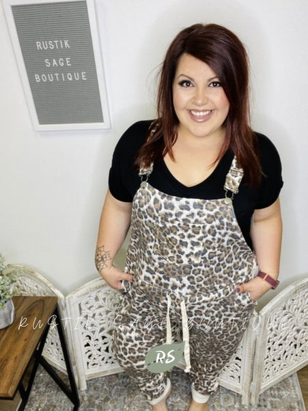 AP07 Sew In Love with Cheetah Overalls