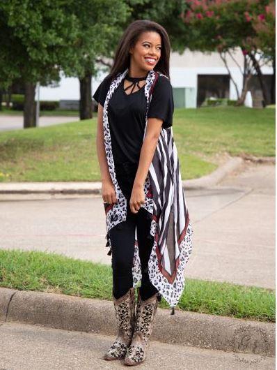 AP35 Mixing Prints Leopard & Zebra Kimono