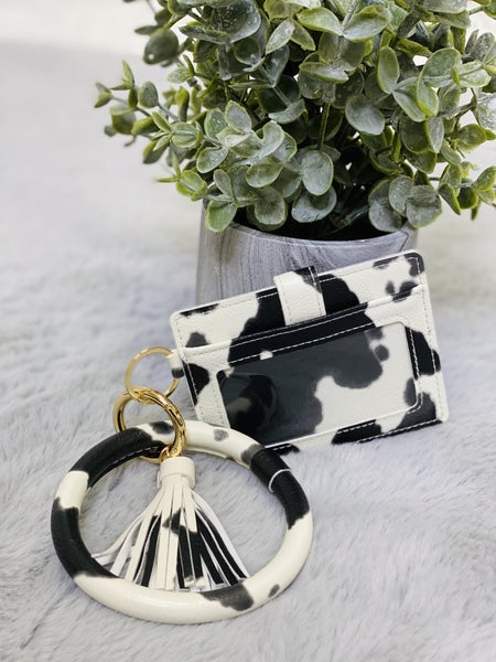 M22 Cow Wristlet Wallet Keychain